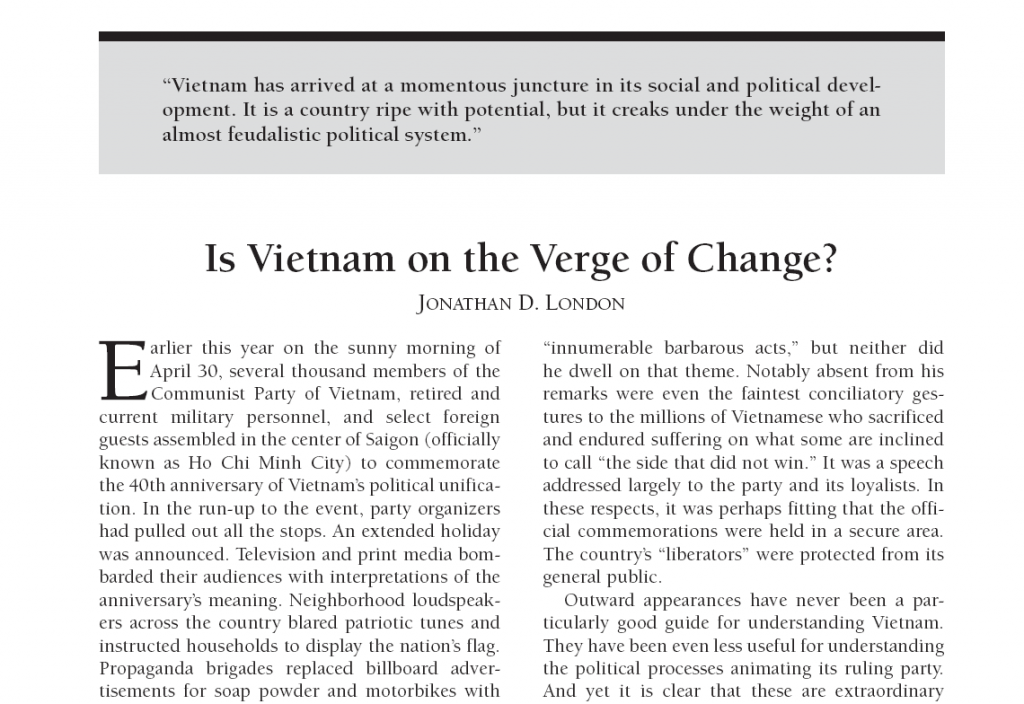 Current history Article